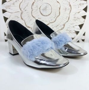 Asos silver feather shoes